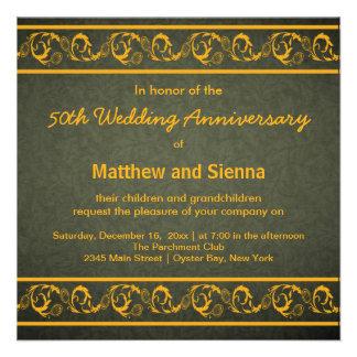 Swirls Anniversary Custom Invites