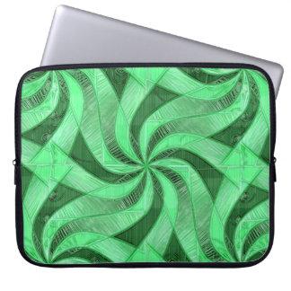 Swirls of Green Laptop Sleeve