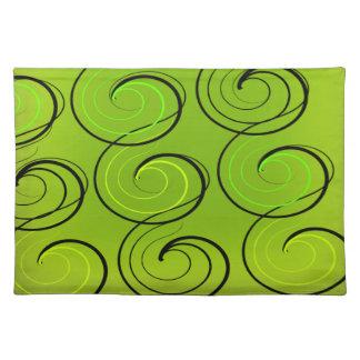 Swirls On Green Placemat