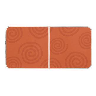 Swirls Orange Pattern Design Pong Table