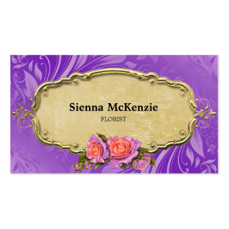 Swirls Roses Business Card Templates