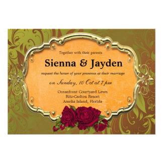 Swirls Roses Invitations