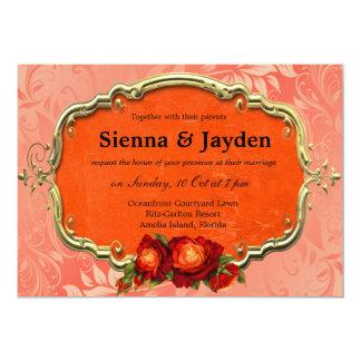 Swirls Roses Custom Invitation