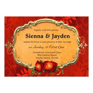 Swirls Roses Personalized Invite
