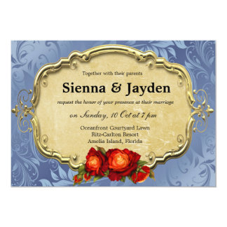 Swirls Roses Personalized Announcements