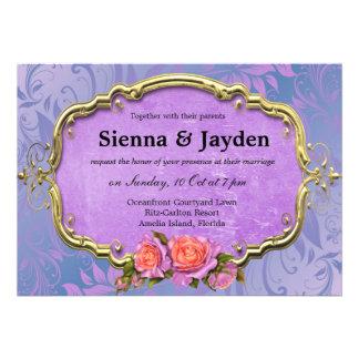 Swirls Roses Invites
