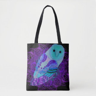Swirly Barn Owl Tote Bag