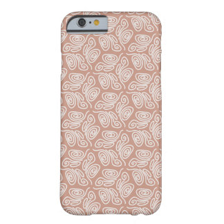 Swirly brown Pattern Barely There iPhone 6 Case
