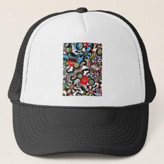 Swirly Funky Multicolored Doodles Trucker Hat