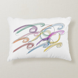 Swirly Mulit-Color Pillow