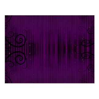 Swirly Purple Postcard