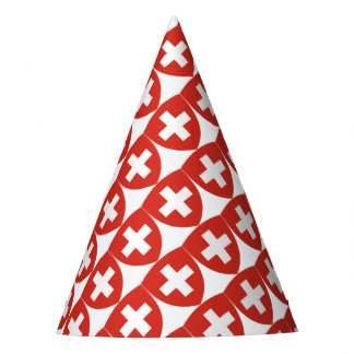 Swiss Coat of Arms Shield Party Hat