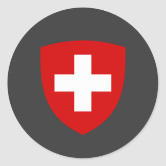 Swiss Coat of Arms - Switzerland Souvenir Classic Round Sticker