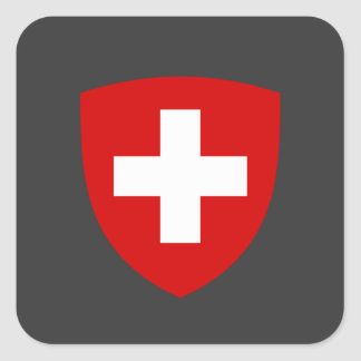 Swiss Coat of Arms - Switzerland Souvenir Square Sticker