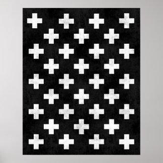 Swiss cross art print Modern minimalist print