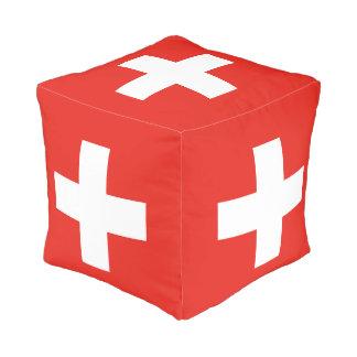 Swiss Flag - Flag of Switzerland Pouf