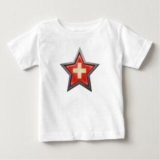 Swiss Flag Star Baby T-Shirt