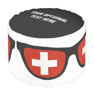 Swiss Shades custom pouf