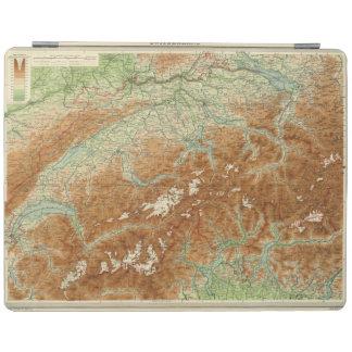 Switzerland Atlas Map iPad Cover