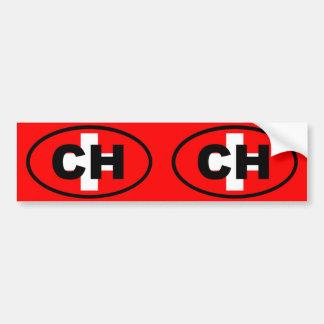 Switzerland CH European oval Bumper Sticker