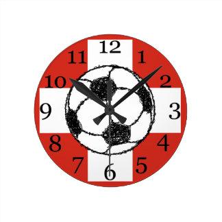 Switzerland Flag | Football Ball Round Clock