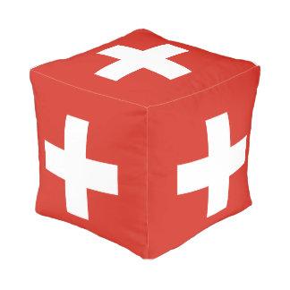Switzerland Flag Pouf