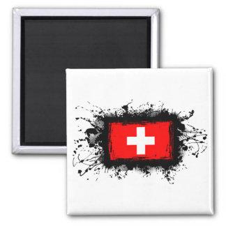 Switzerland Flag Square Magnet