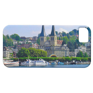 Switzerland, Lucerne cathedral and waterfront iPhone 5 Case