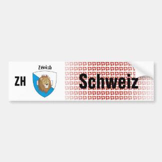 Switzerland Svizzera Suisse Zurich autosticker Bumper Sticker