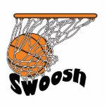 swoosh basketball photo cut out