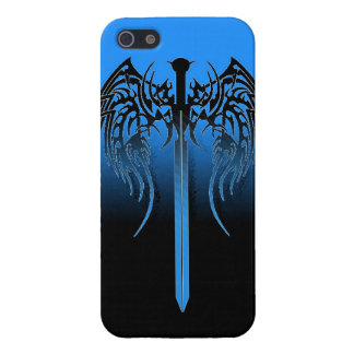 Sword and wings tribal cool awesome tattoo art fan iPhone 5/5S cover