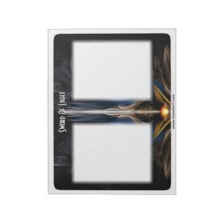 Sword OF Light Fractal Art Notepad