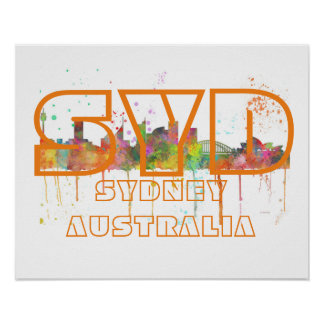SYD SYDNEY AUSTRALIA POSTER