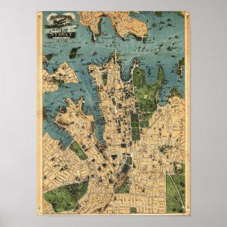 Sydney, AustraliaPanoramic Map Poster