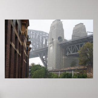 Sydney Harbour Bridge Grey Mist Poster
