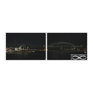 "Sydney Icons - 39"" x 12"" side-by-side canvas Canvas Print"