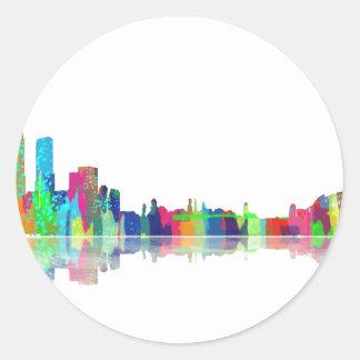 Sydney NSW Skyline Round Sticker