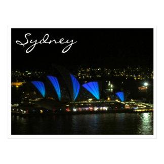 sydney opera vivid blue post cards