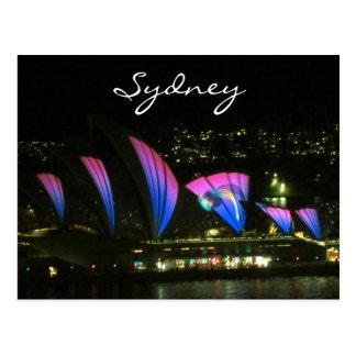 sydney opera vivid lilac postcard