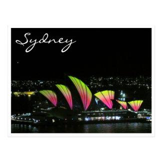 sydney opera vivid orange postcards