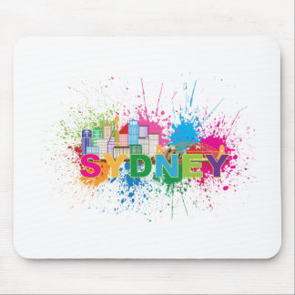 Sydney Skyline Abstract Color Illustration Mouse Pad
