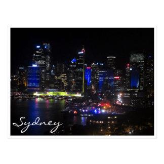 sydney vivid blue post card