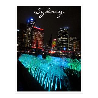 sydney vivid green postcards