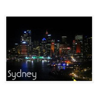 sydney vivid lights post cards