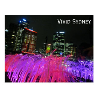 sydney vivid pink postcards