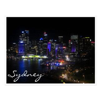 sydney vivid purple post card