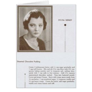 Sylvia Sidney vintage recipe Card