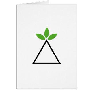 Symbol for ecological balance greeting card