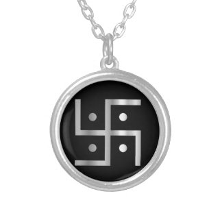 Symbol of Hinduism  Silver Plated Necklace