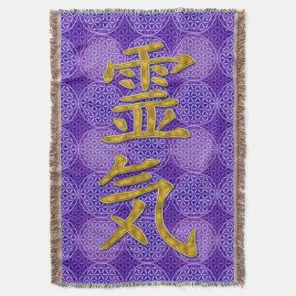 Symbol REIKI gold + flower of life pattern